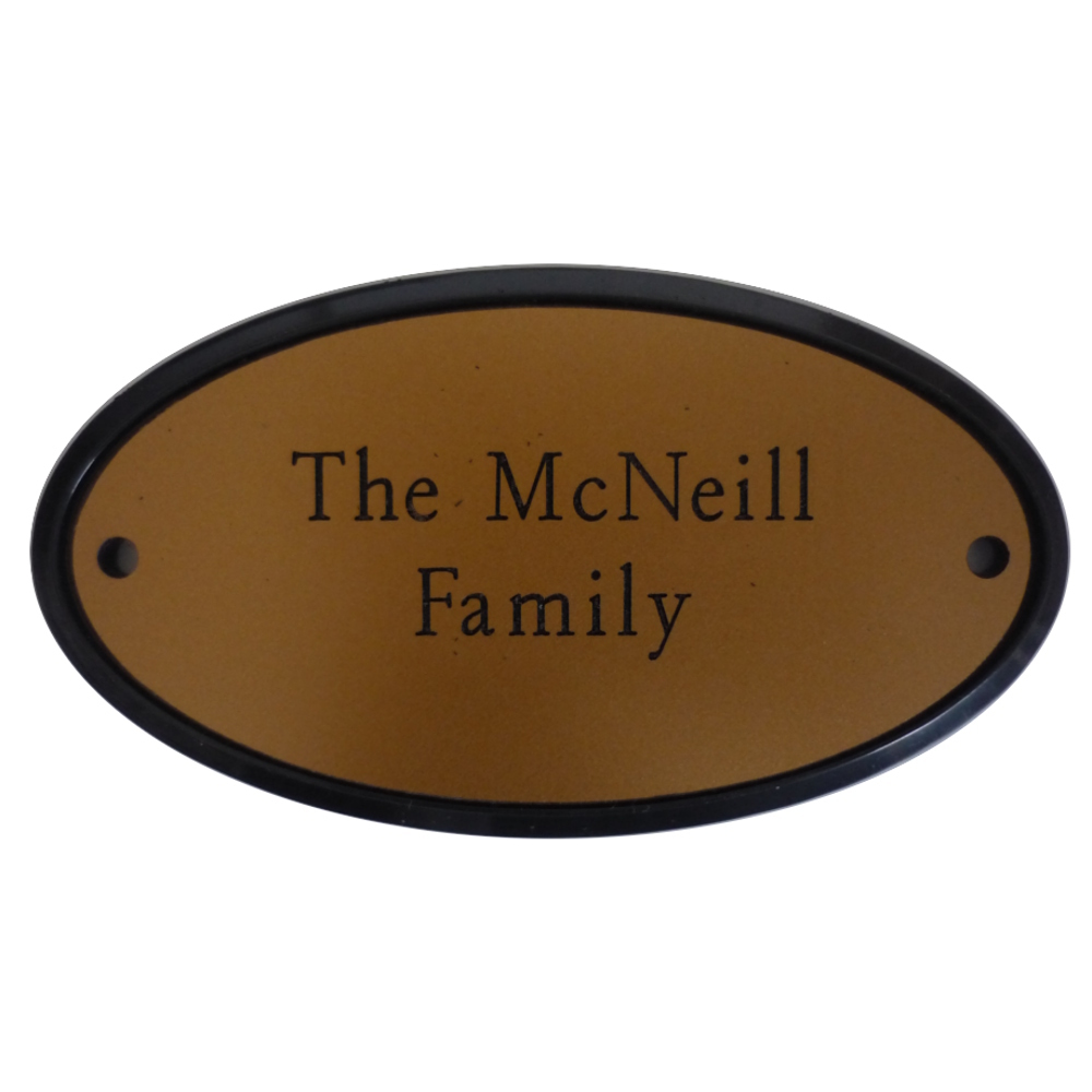 Engraved Oval Plaque