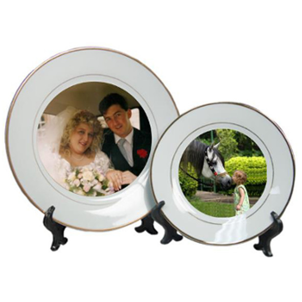 Ceramic Photo Display Plate