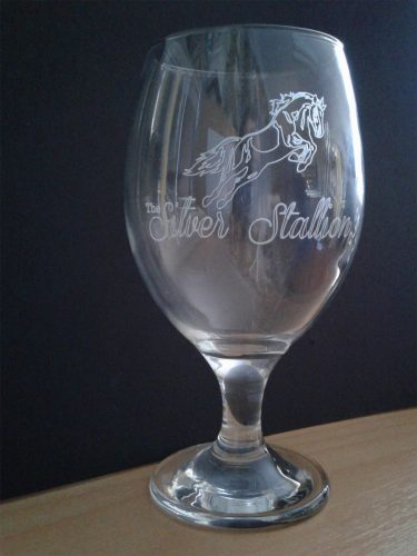 Engraved Glass Lager