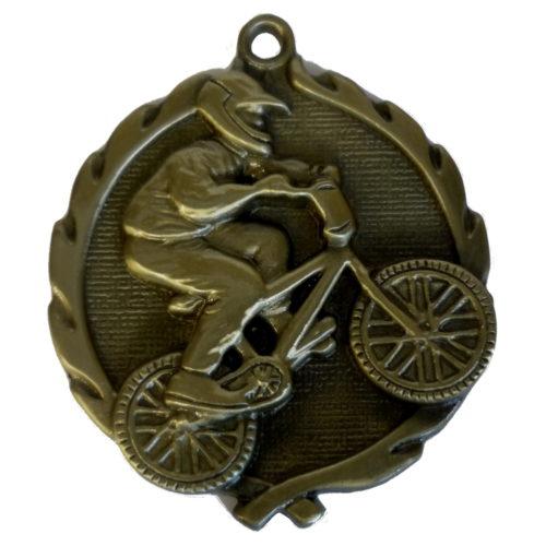 3D Gold BMX Medal