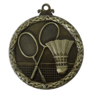 Gold Wreath Badminton Medal
