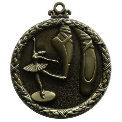 Dance Medals, Gold Wreath Ballet Medal