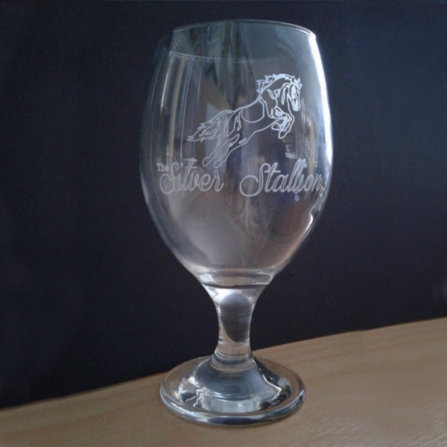 Engraved GLASS DIAMANTE ACQUA