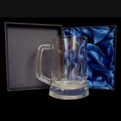 Personalised Glass Tankard, Engraved Glass Tankard, Personalised Glass Tankard With Presentation Box