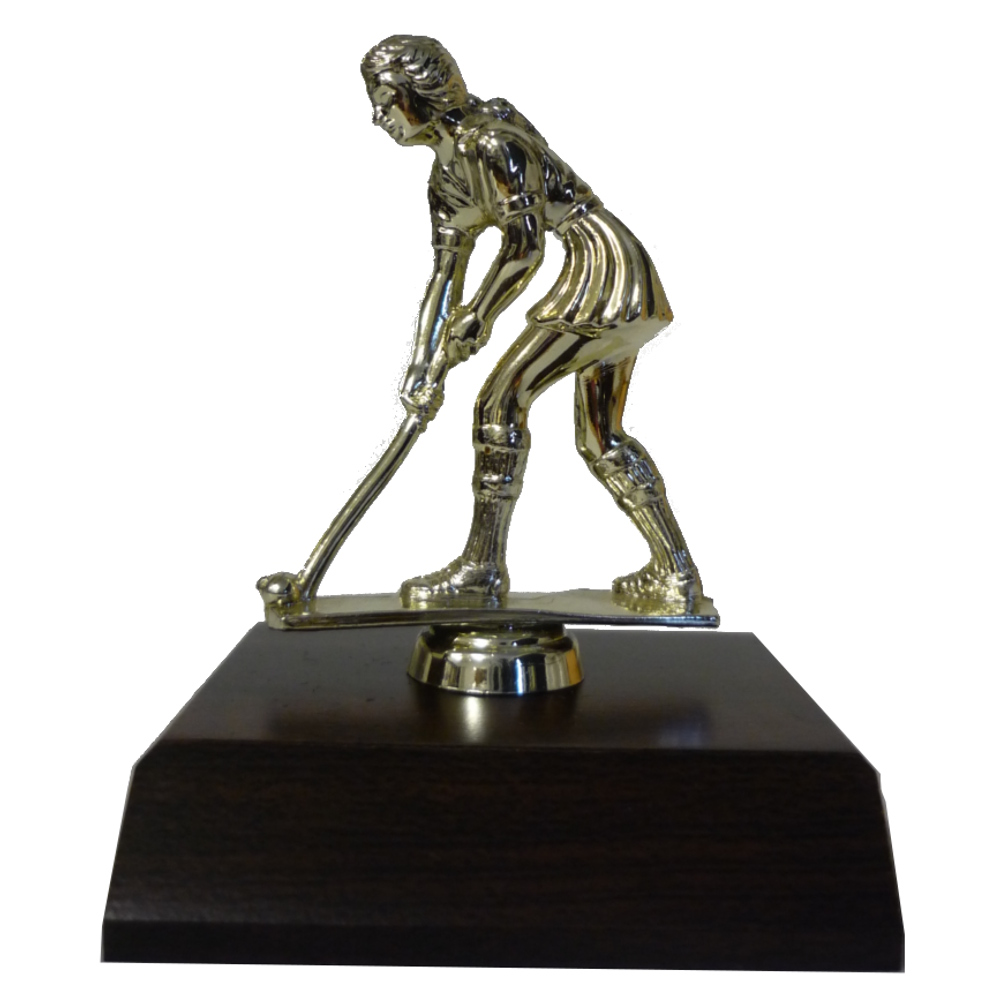 Hockey Female Figurine On Base