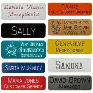 Engraved Plastic Name Badges