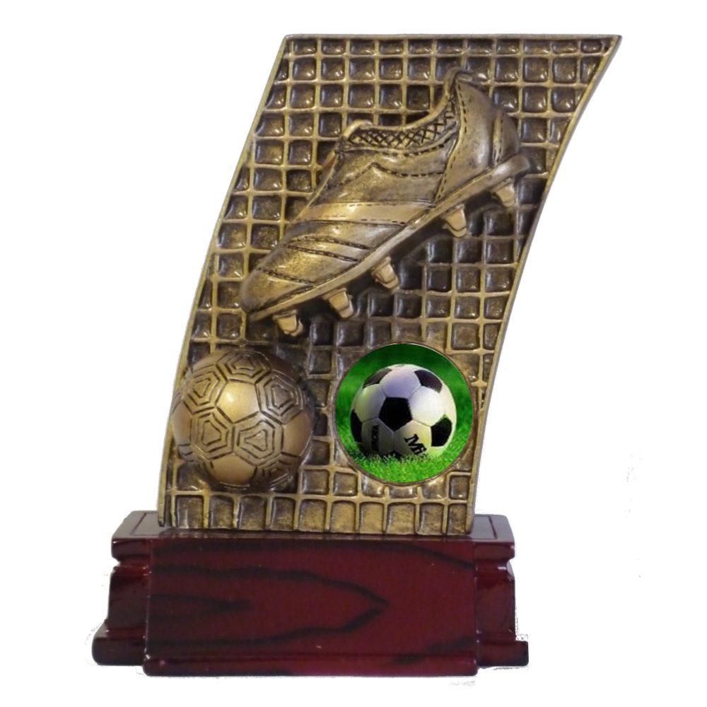 Resin Soccer Net Trophy