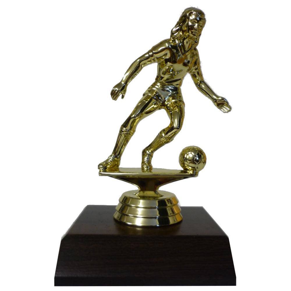Soccer Girl Trophy Figurine