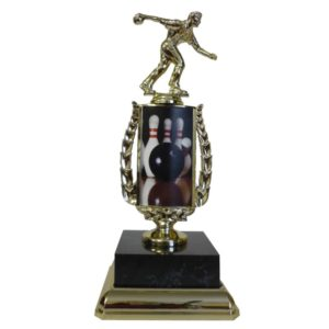 Ten Pin Bowling Sports Insert Trophy