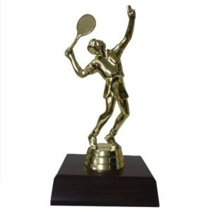 Tennis Male Trophy Figurine