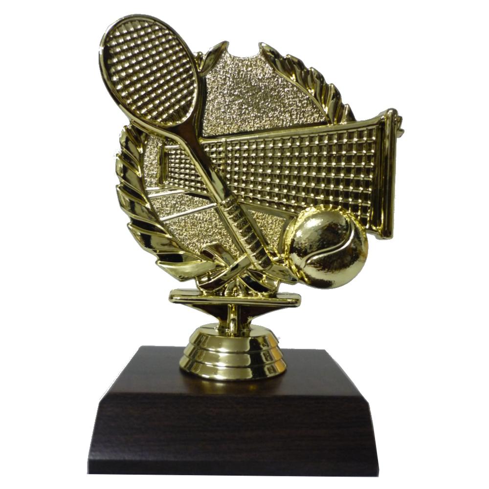 Tennis Wreath Figurine On Base