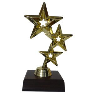 Triple Star Trophy Figurine