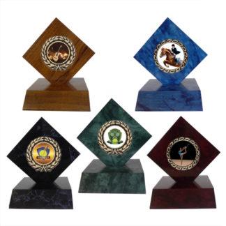 Wooden Diamond Trophy