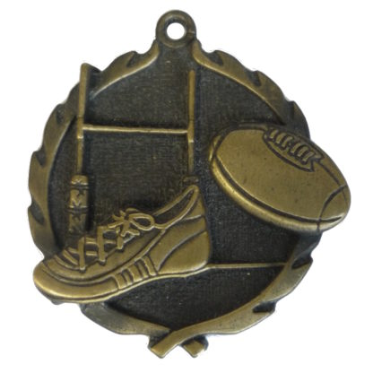 3D Gold Rugby Medal