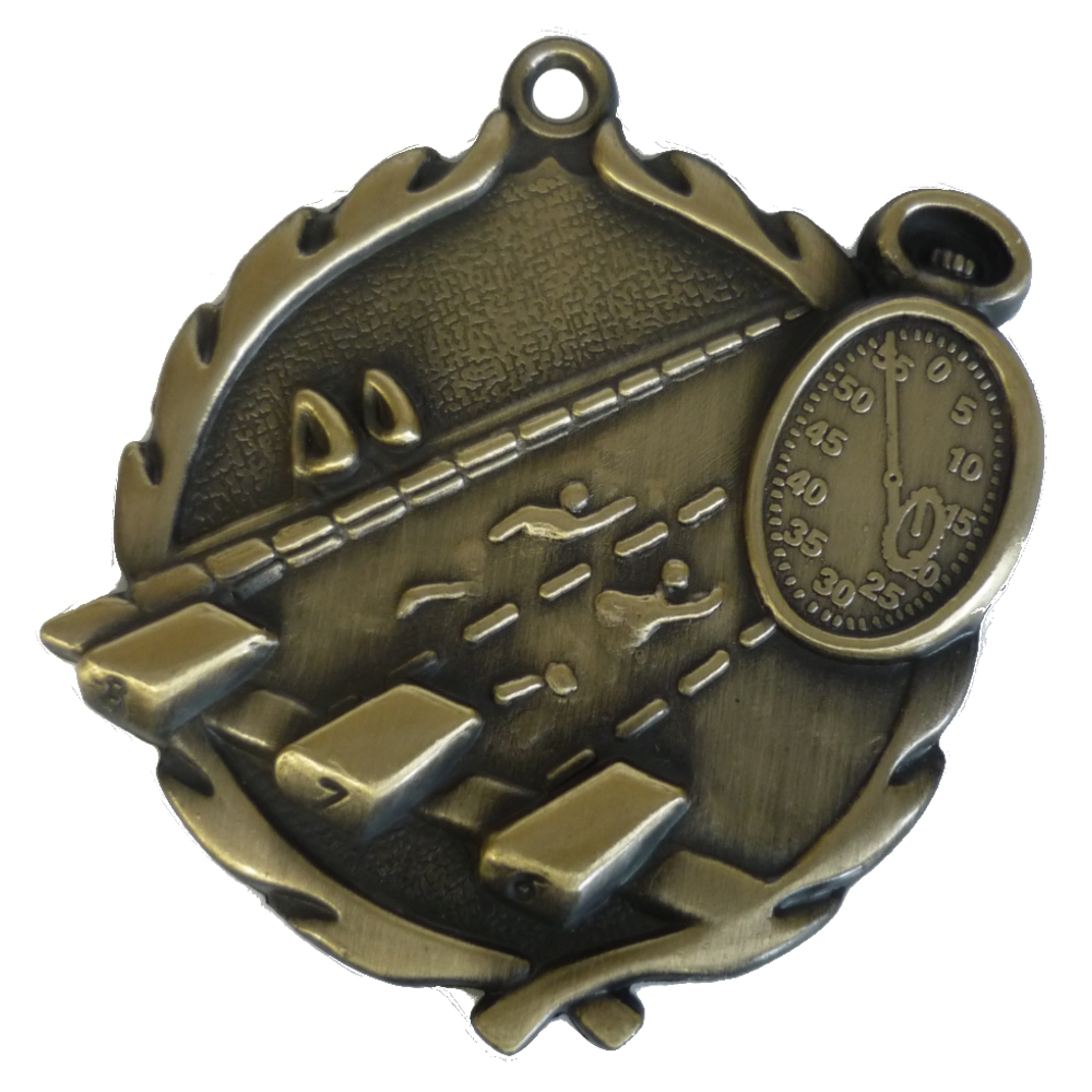 3D Gold Swimming Medal