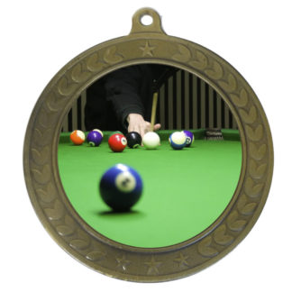 50mm Insert Billiards Medal
