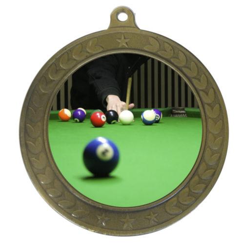 50mm Insert Billiards Medal