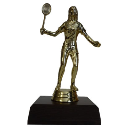 Badminton Girl Figurine