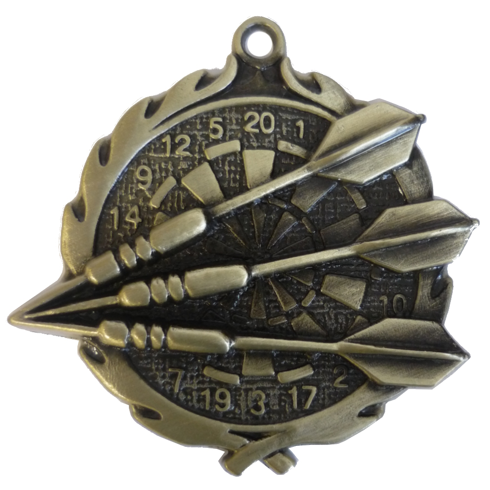 3D Gold Darts Medal