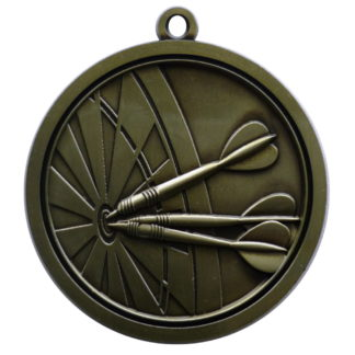 Hi-Relief Darts Medal