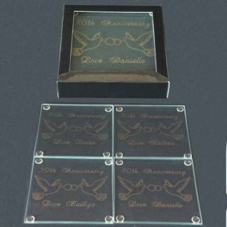 Engraved Glass Coasters