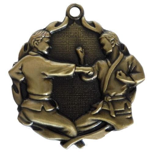 3D Gold Karate Medal