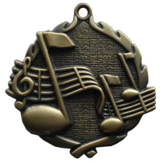 Music Medals, 3D Gold Music Medal