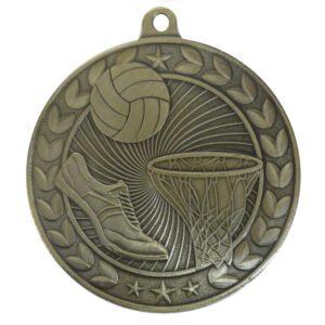 Embossed Netball Medal