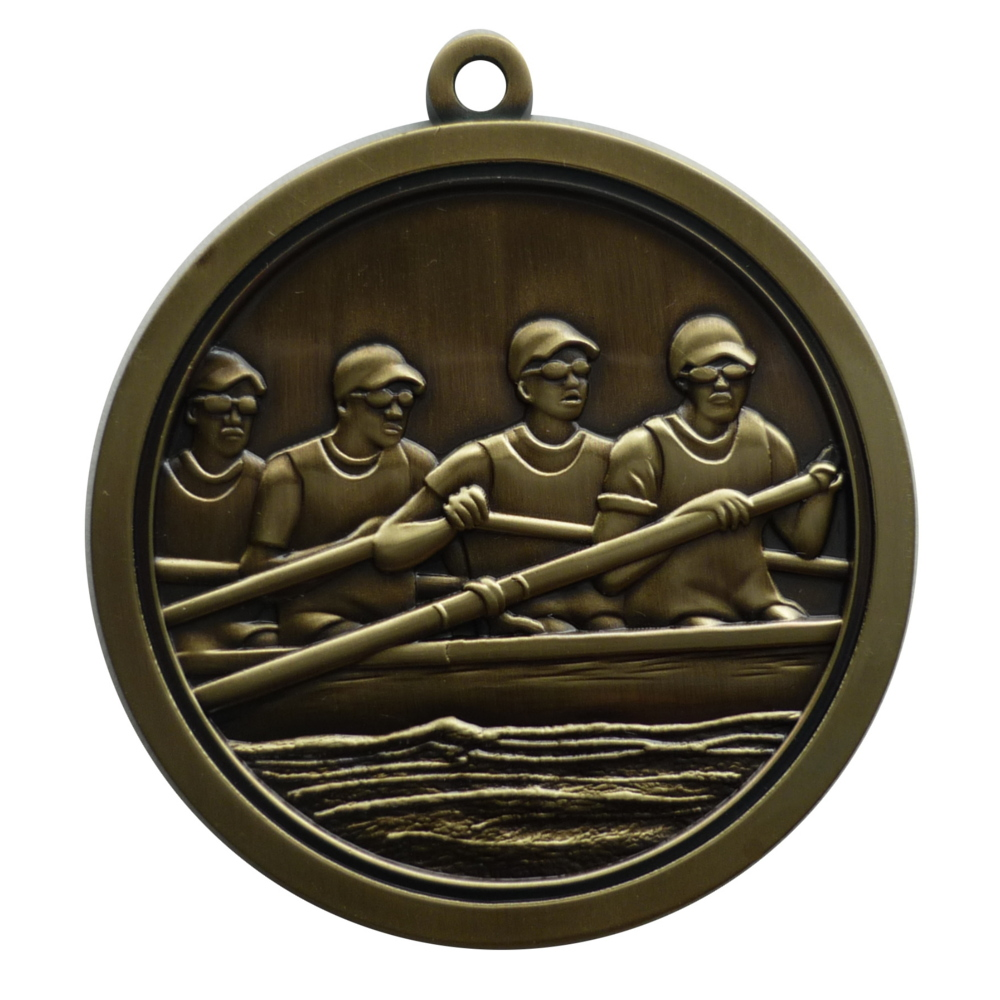 Hi-Relief Rowing Medal