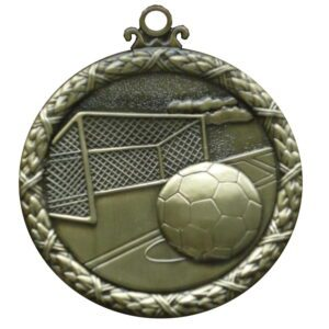 Gold Wreath Soccer Medal