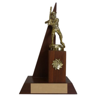 Solid Wood Softball Trophy
