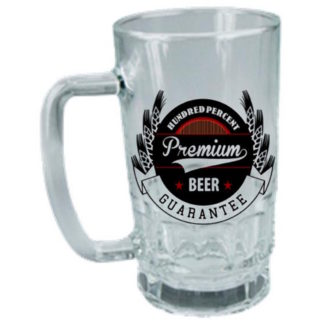 Personalised Clear Glass Beer Mug