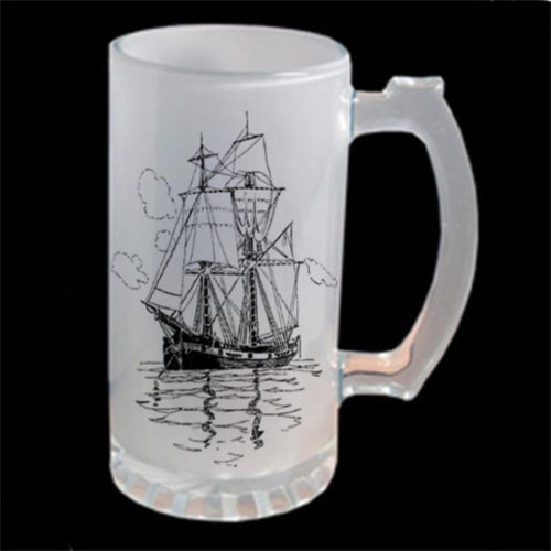 Personalised Frosted Glass Beer Mug