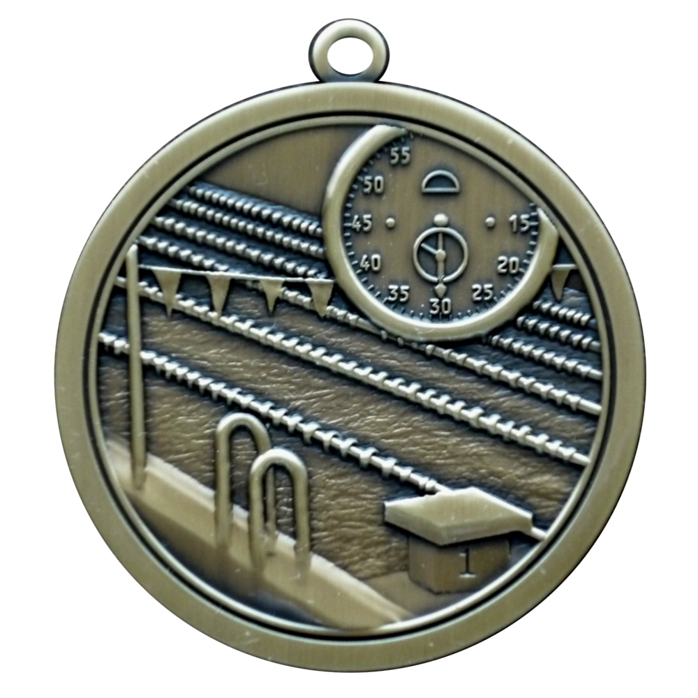 Hi-Relief Swimming Medal
