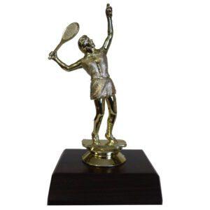 Tennis Female Trophy Figurine