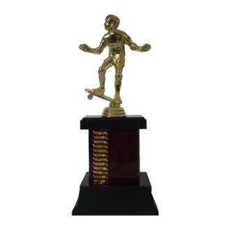 Skateboarding Trophies, Wave Pattern Skateboarder Trophy