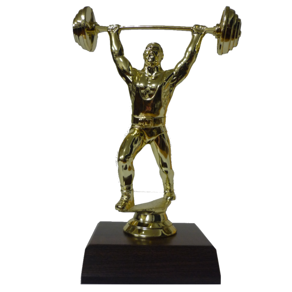 Weightlifter Figurine On Base