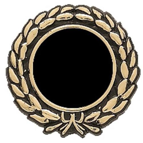 25mm Black Gold Ribbon Wreath Insert Holder trim
