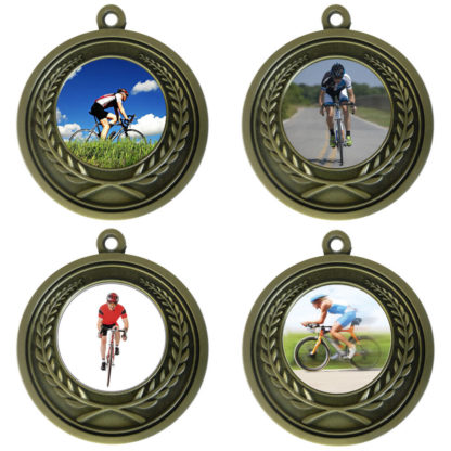 25mm Insert Cycling Medal