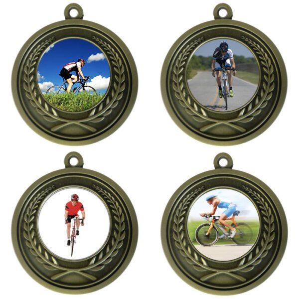 25mm Insert Cycling Medal