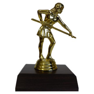 Billiards Girl Figurine