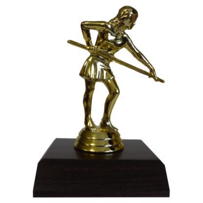 Billiards Girl Figurine