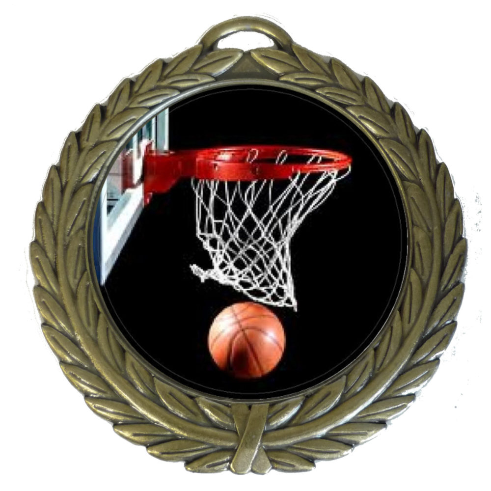 50mm Insert Basketball Medal