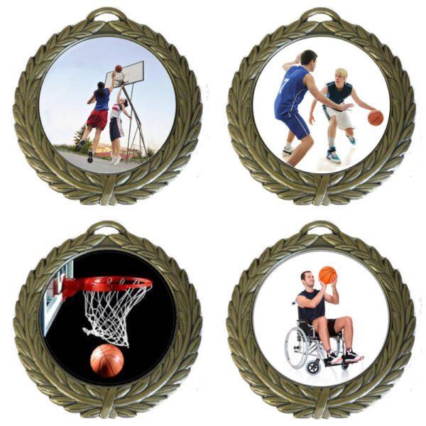 50mm Insert Basketball Medal