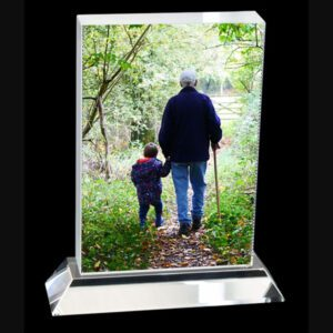 Crystal Portrait Photo Display