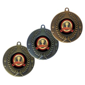 25mm Torch & Wreath Insert Medal