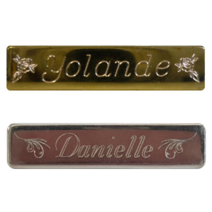 Engraved Baby Name Brooch