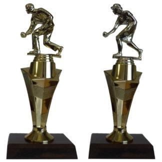Pedestal Lawn Bowls Trophy