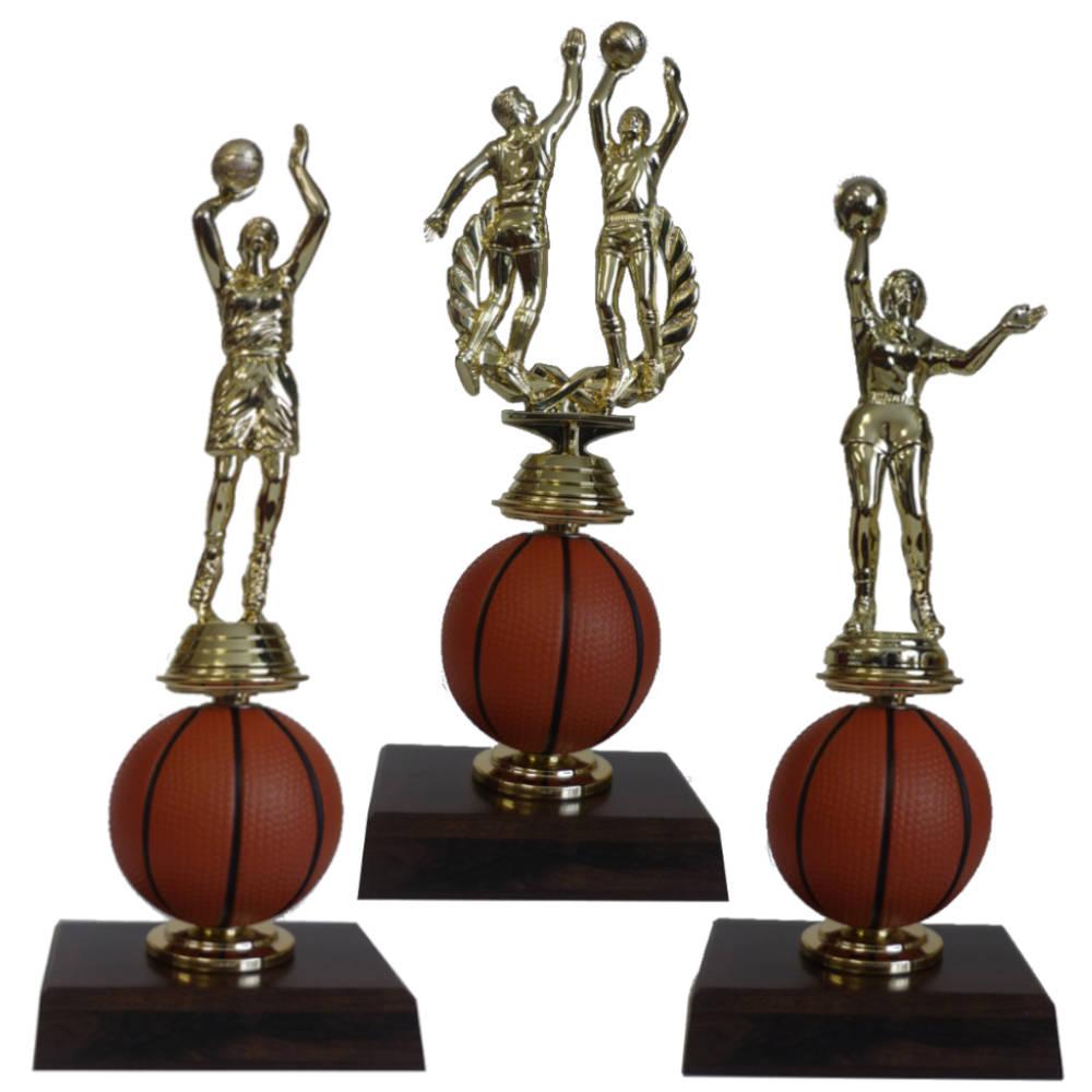 Spinning Basketball Figurine Trophy