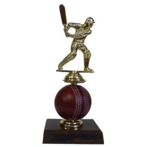 Spinning Cricket Ball Figurine Trophy